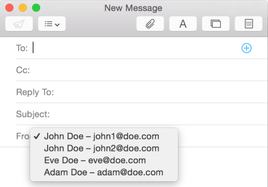 Create mail multiple names, multiple addresses